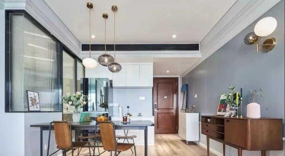 116平的北欧风三居室,复古质感的家具很有格调感