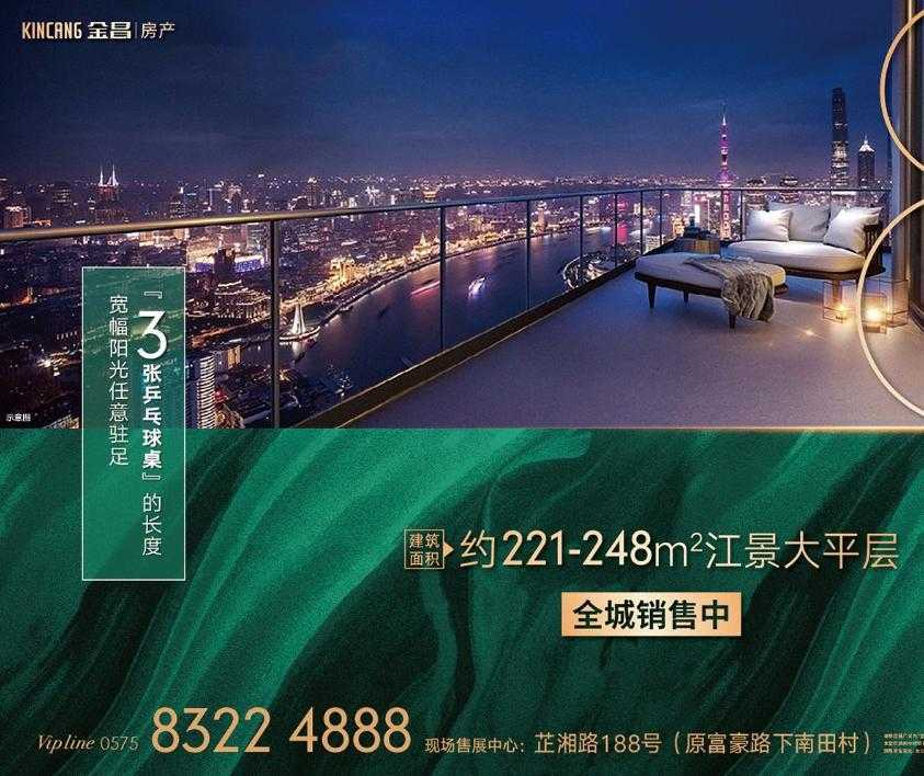 金昌·白鹭金湾|建筑面积约211-248m²江景大平层 全城销售中