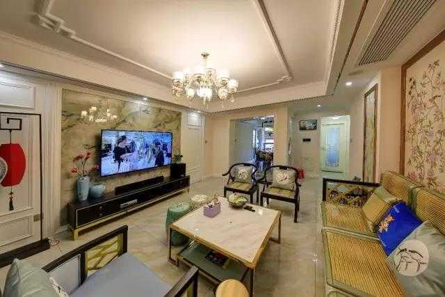 116㎡新中式花15万打造,如此有格调的吧台吊灯,太美了