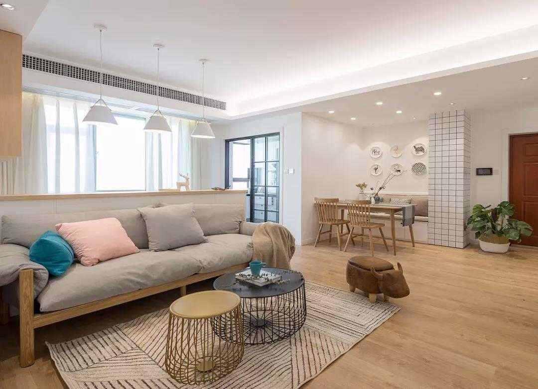【装修精选】106㎡三室北欧风格,配色协调,整体给人简洁利落之感
