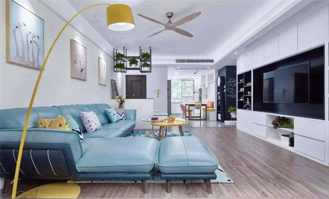 【装修精选】96㎡简约风小窝,卧室加书房的设计,小情侣的爱宅