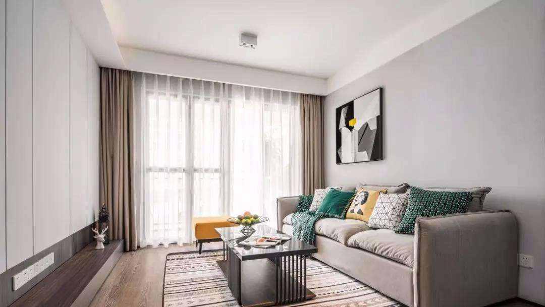 112㎡现代北欧3室2厅,简约舒适的小资格调