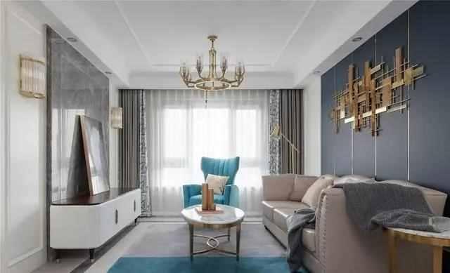121㎡3室2厅,轻奢美式风装修,颜色的搭配是亮点,成功吸引了我!