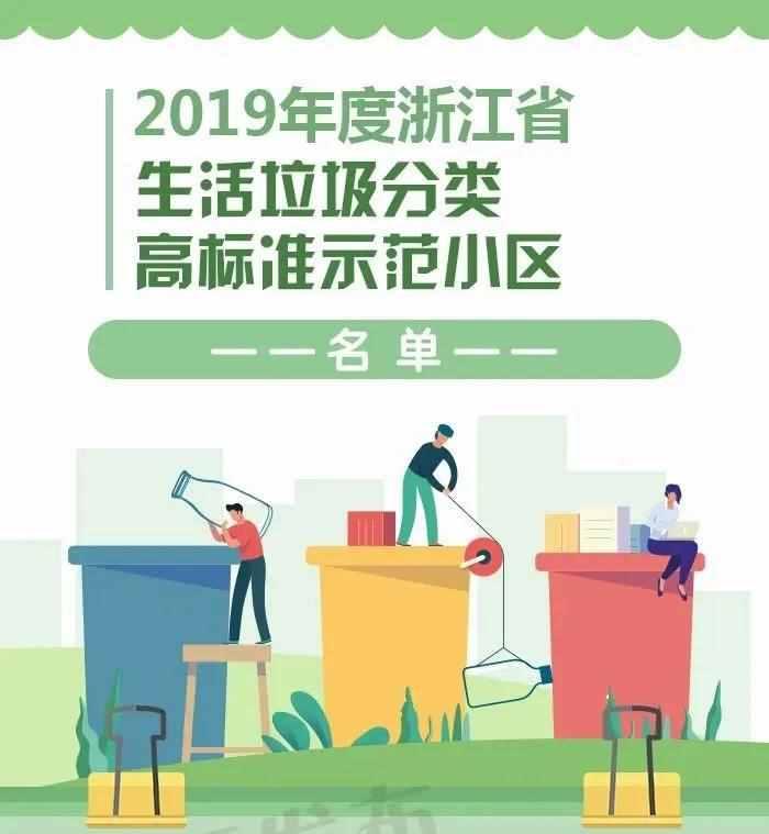 你家小区上榜没?2019年浙江生活垃圾分类示范片区、高标准示范小区名单来了