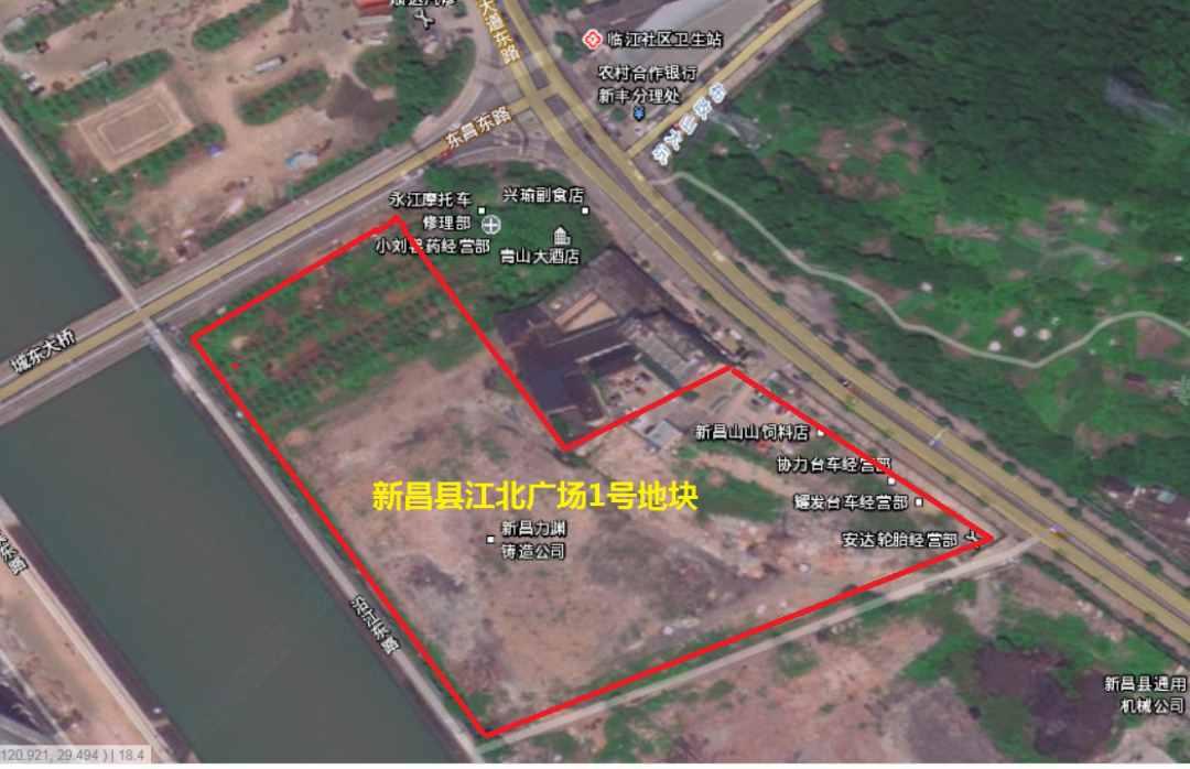 新昌东门又有两块城镇住宅用地要拍卖了!占地近80000平...