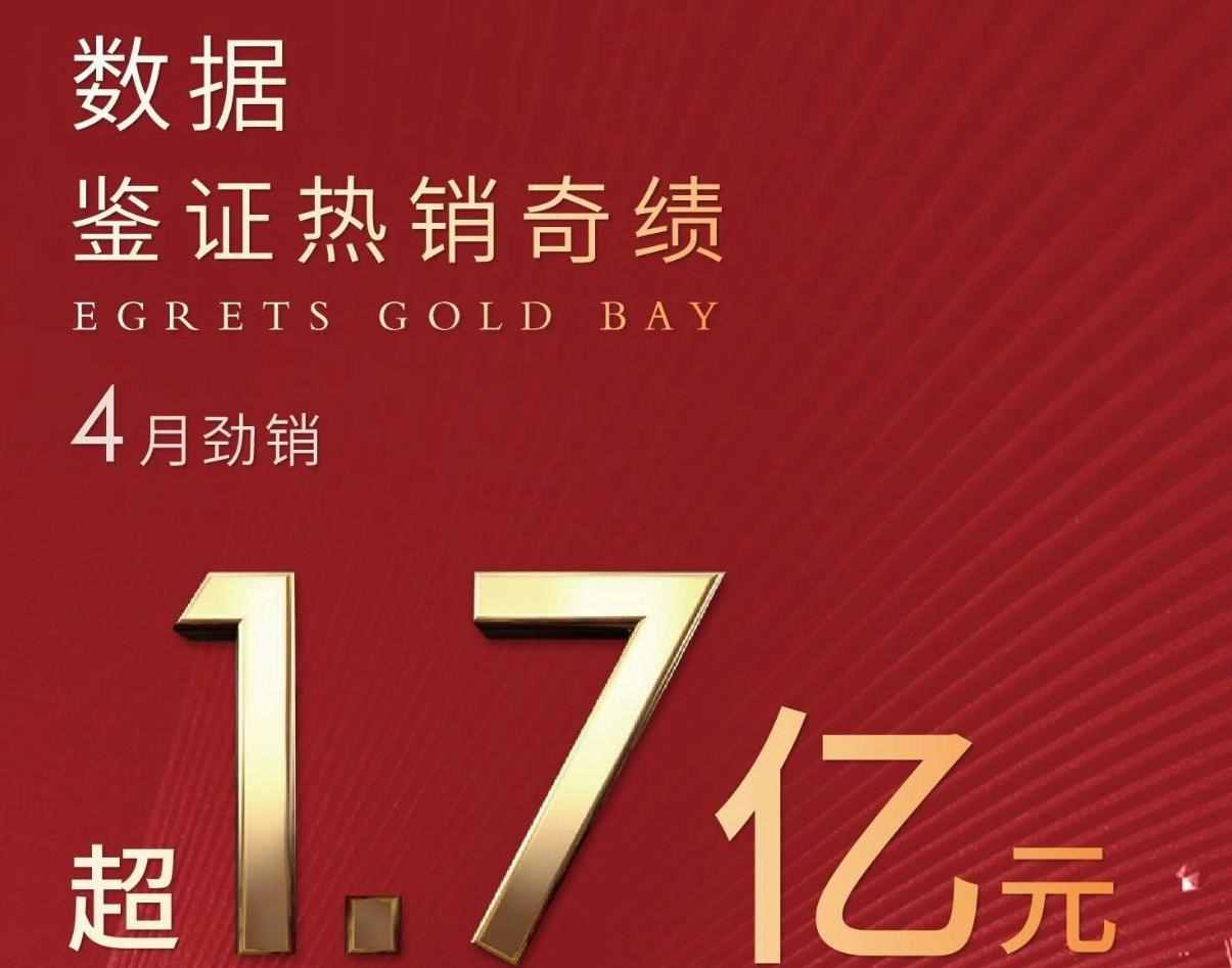 嵊州金昌白鹭金湾 |4月劲销 超1.7亿元