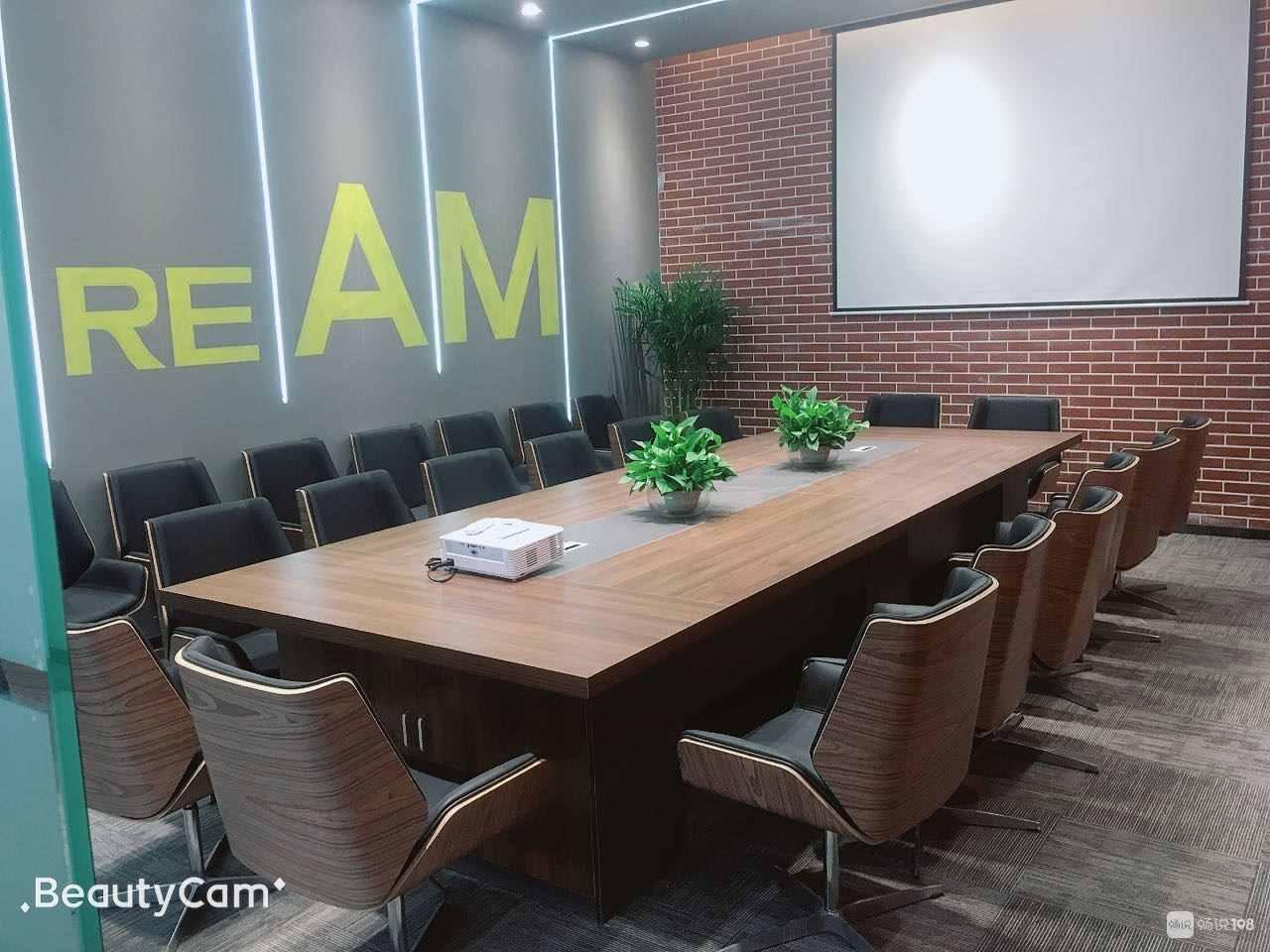 会展中心有100-1000平方写字楼办公室出租全新装修带大型会议室大型休闲咖啡吧的实拍照片
