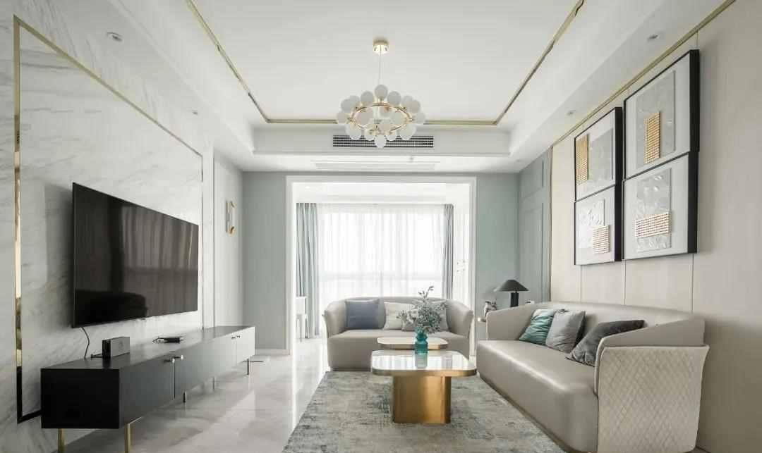【装修精选】115m²轻奢风格装修,简约时髦,却又低调奢华
