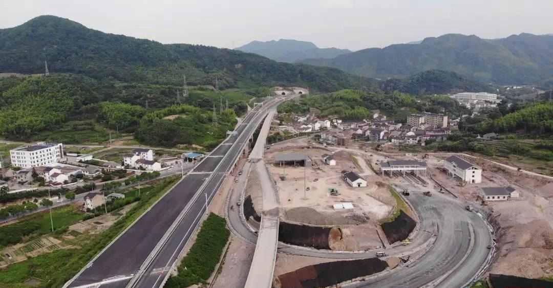 近了,更近了!杭绍台高速先行段9月底通车