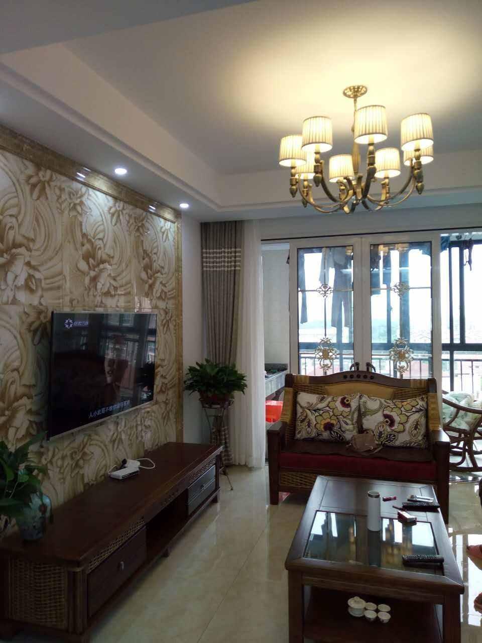 A06021出售城西万都公馆9/14楼,98平,3室2厅1卫,豪华装修,无空摊面积!江景电梯房,售价88万