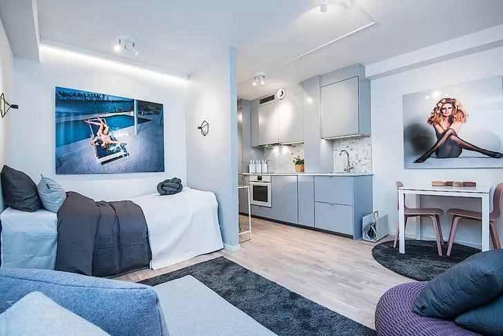 25平的小户型公寓,啥都不缺的房子,设计得太棒了