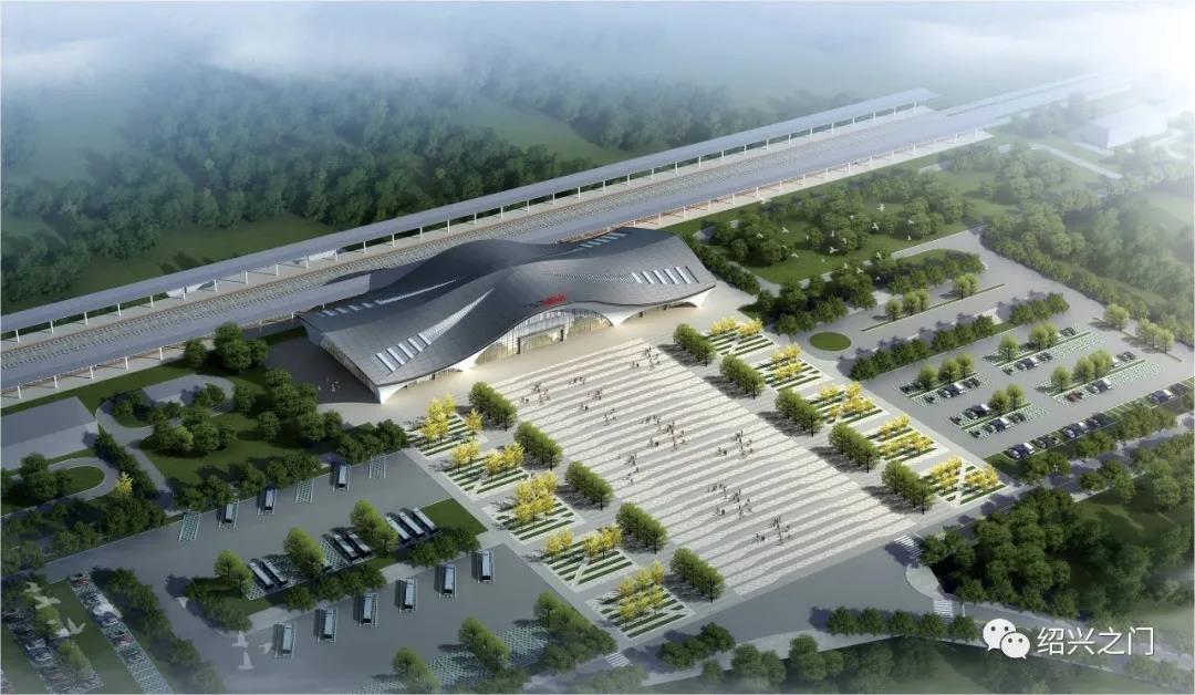 杭绍台高铁嵊州三界站,最新航拍图来了!