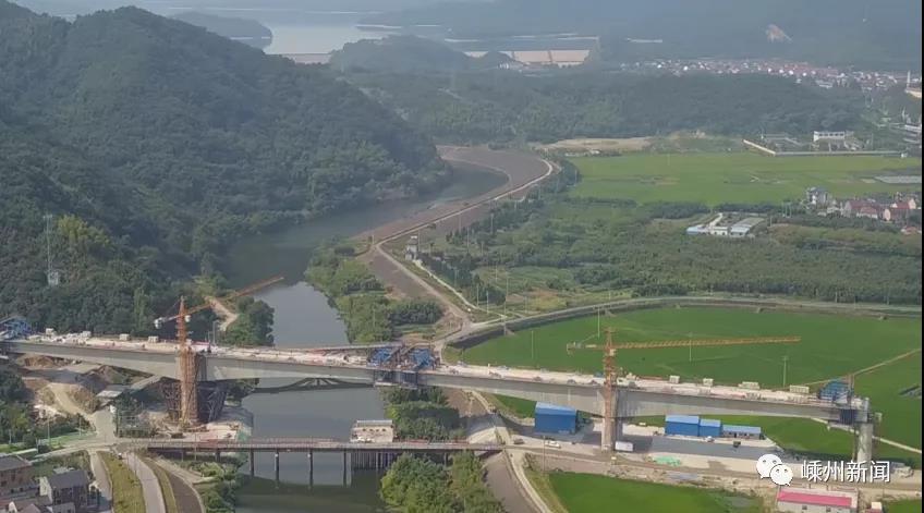 提前10天,全线主跨度最大,杭绍台铁路这个地方合龙!