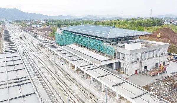 杭绍台铁路三界站站房进入装修阶段,距高铁时代更近一步